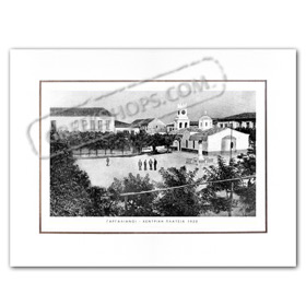 Vintage Greek City Photos Peloponnese - Messinia, Gargalianoi, Central Square (1920)
