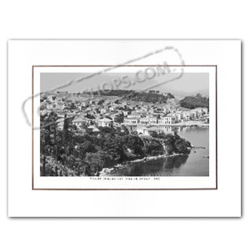 Vintage Greek City Photos Peloponnese - Messinia, Navarino - Pylos, City view (1950)