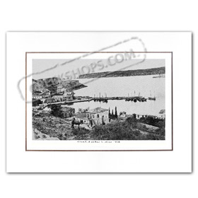 Vintage Greek City Photos Peloponnese - Messinia, Pylos, Port view (1910)