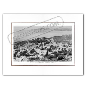 Vintage Greek City Photos Peloponnese - Messinia, Kyparissia, Castle and Bay view (1950)