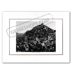 Vintage Greek City Photos Peloponnese - Arcadia, Karitaina, city view (1920)