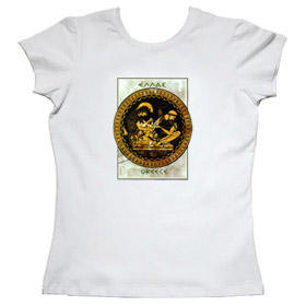 Ancient Greek Warriors Women's Tshirt 10
