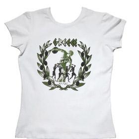 Olive Branches and Discus Womens Tshirt Style 10019b