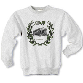 Olive Branches and Parthenon Children's Sweatshirt 10020B