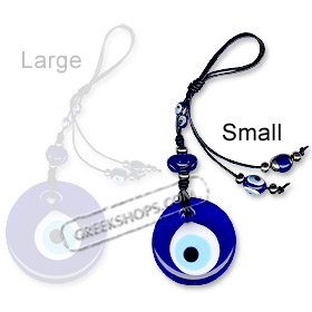 Small Blue Evil Eye Decorative Charm 121118A