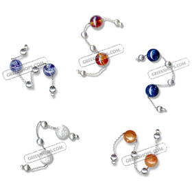 Sterling Silver Begleri Large Beads (choice of color)