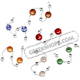 Sterling Silver Begleri Small Beads (choice of color)