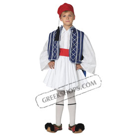 Tsolias Traditional Greek Costume for Boys Size 8-16 Style 644208