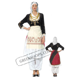 Crete Girl Costume for ages 6-14 Style 227401