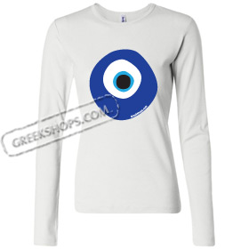 Women's Long Sleeve Shirt - Greek Mati Evil Eye