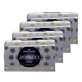 Papoutsanis Greek Aromatic Soaps - Marine, 4 x 125gr bars w/ Free US Shipping