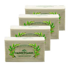 Natural Greek Olive Oil Soap - Papoutsanis 250g - 4-pack, Free Shipping