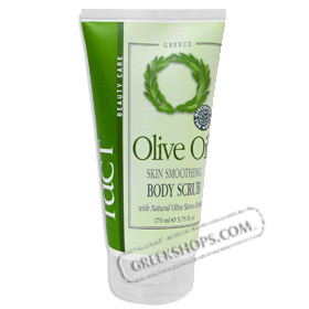 Tact Pure Olive Oil Body Scrub with Natural Olive Stone Grounds (5.75oz)