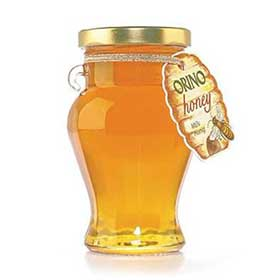 ORINO Flower and Thyme Greek Honey, 400gr Jar, Crete