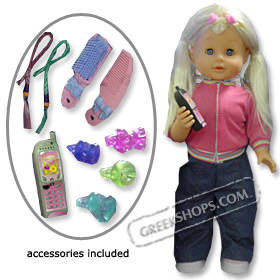 Selina, Childrens Greek Interactive Talking and Walking Doll