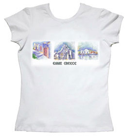 Greek Island Hellas Greece Women's Tshirt 137B_2006
