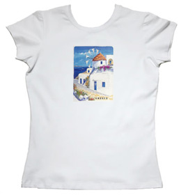 Greeek Islands Womens Tshirt Style 65b