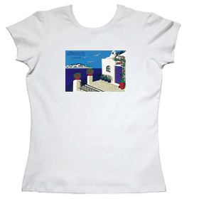 Greeek Islands Womens Tshirt Style 68b