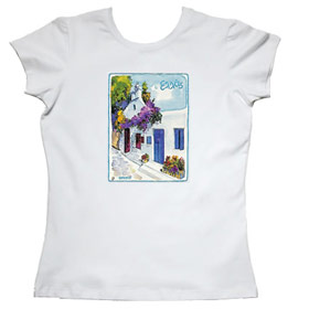 Greeek Islands Womens Tshirt Style 69b