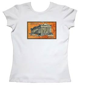 Parthenon Ancient Greece Womens Tshirt Style 6c
