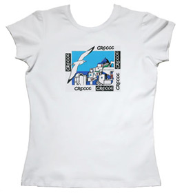 Greeek Islands Womens Tshirt Style 72b