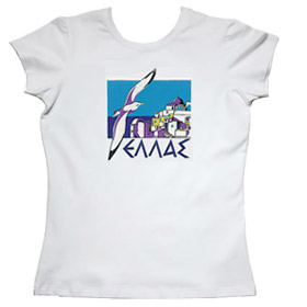 Greeek Islands Seagull Womens Tshirt Style 77b