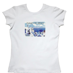 Images of Greece Greek Islands Womens Tshirt Style T82b