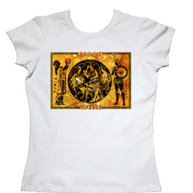 Pythia at the Oracle of Delphi Women's Tshirt Style 9