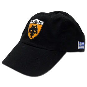 AEK Athens Adjustable Baseball Cap. In Black