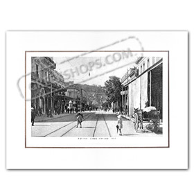 Vintage Greek City Photos Attica - City of Athens, Athinas Street (1917)