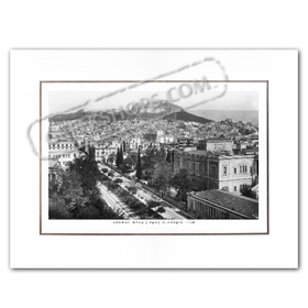 Vintage Greek City Photos Attica - City of Athens, Lycabettus - Tositsa Street (1950)