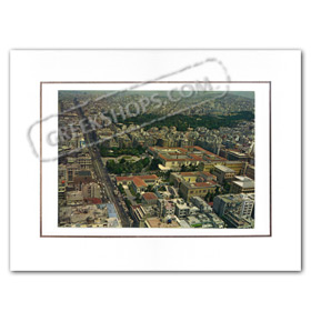 Vintage Greek City Photos Attica - City of Athens, Patision Aerial view (1970)