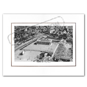 Vintage Greek City Photos Attica - City of Athens, Thision aerial view (1932)