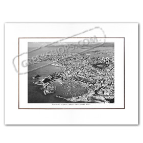 Vintage Greek City Photos Attica - Pireaus, Aerial View (1960)