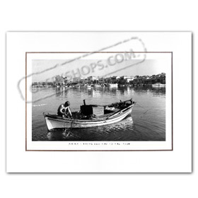 Vintage Greek City Photos Attica - Saronic Gulf Islands, Aigina Port (1960)