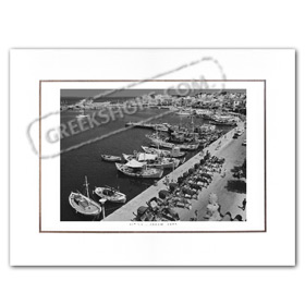 Vintage Greek City Photos Attica - Saronic Gulf Islands, Aigina Port (1970)