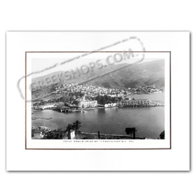 Vintage Greek City Photos Attica - Saronic Gulf Islands, Poros Port (1950)