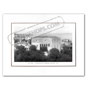Vintage Greek City Photos Attica - Saronic Gulf Islands, Spetses Bouboulinas Villa (1947)