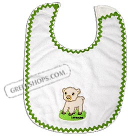 Bib Loukoumi Lamb with Green Trim