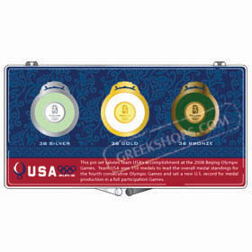Beijing 2008 Team USA Commemorative Medals Pin Set