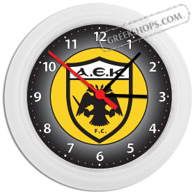 Greek Time - AEK Wall Clock