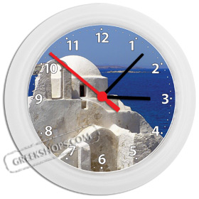 Greek Time - Greek Island Wall Clock - Mykonos