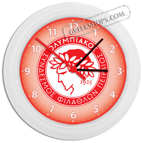 Greek Time - Olympiakos Wall Clock