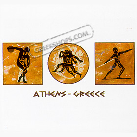 Ancient Greece Olympic Athletes Tshirt Style D20