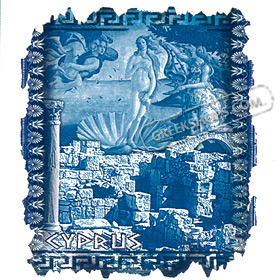 Greece Collage with Venetian Castle and Aphrodite Style D239