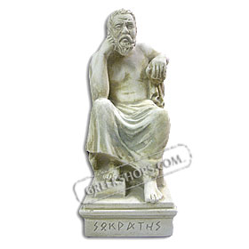 "Socrates - Marble Color Statue 8"" (Clearance 40% Off)"