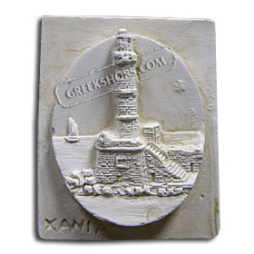 Ancient Greek Chania Lighthouse Magnet