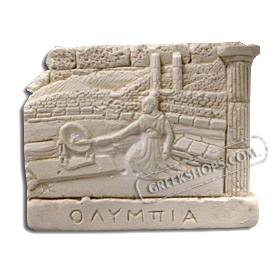Ancient Greek Olympia Magnet