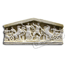 Ancient Greek West Pediment (Center) Magnet