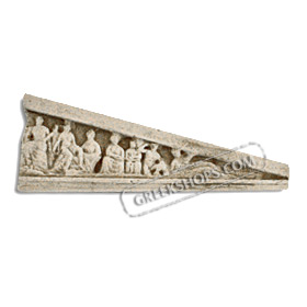 Ancient Greek West Pediment (Right) Magnet